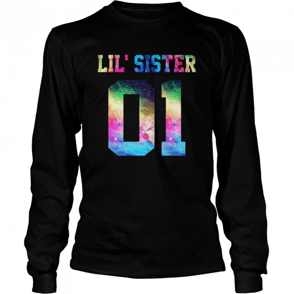 01 big sister 01 mid sister 01 lil' sister for 3 sisters  Long Sleeved T-shirt