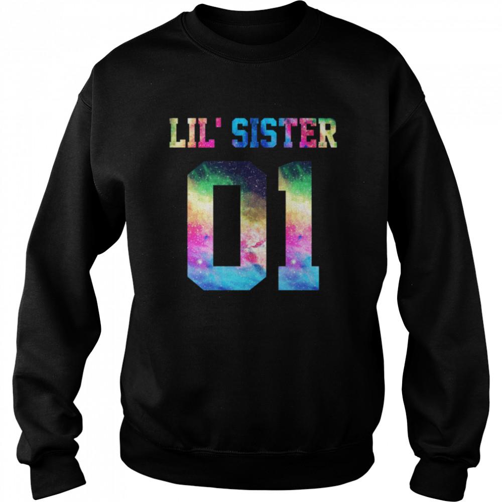01 big sister 01 mid sister 01 lil' sister for 3 sisters  Unisex Sweatshirt