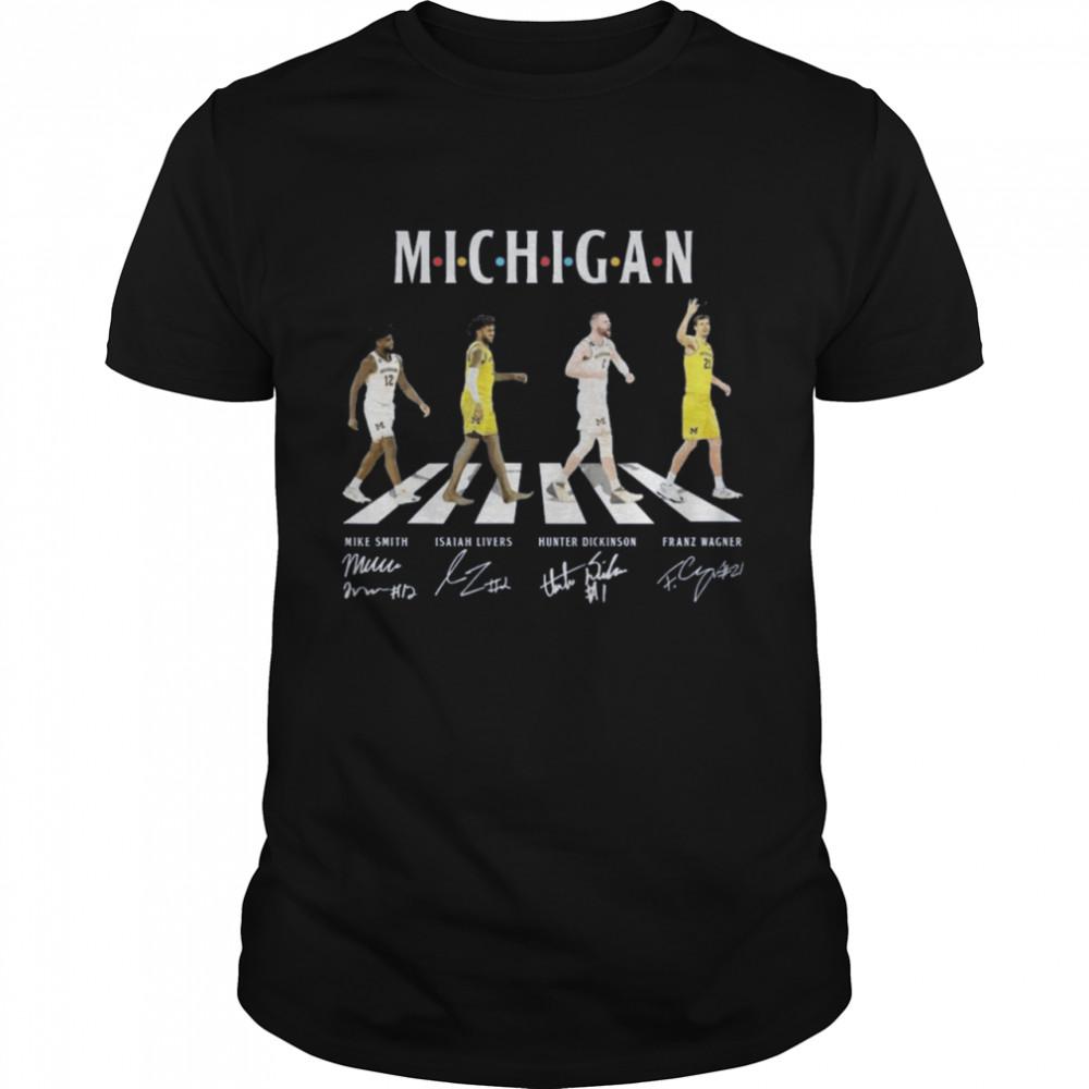 Michigan Football abbey road signatures shirt