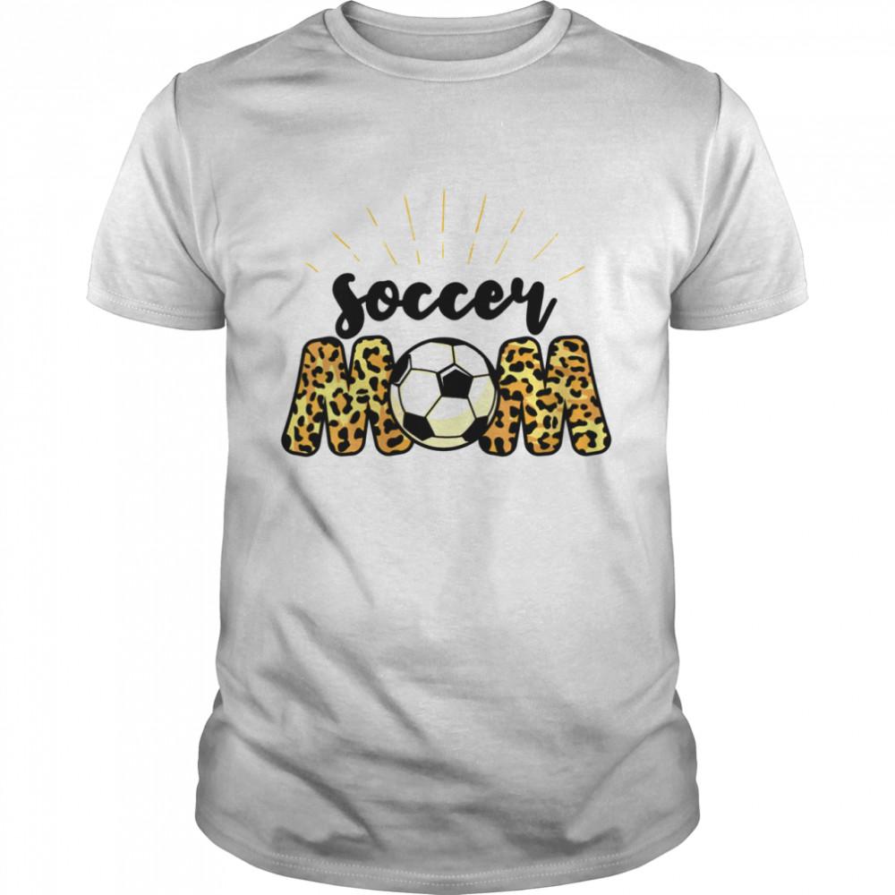 Soccer Mom Leopard Soccer Mom Mother's Day 2021 Shirt