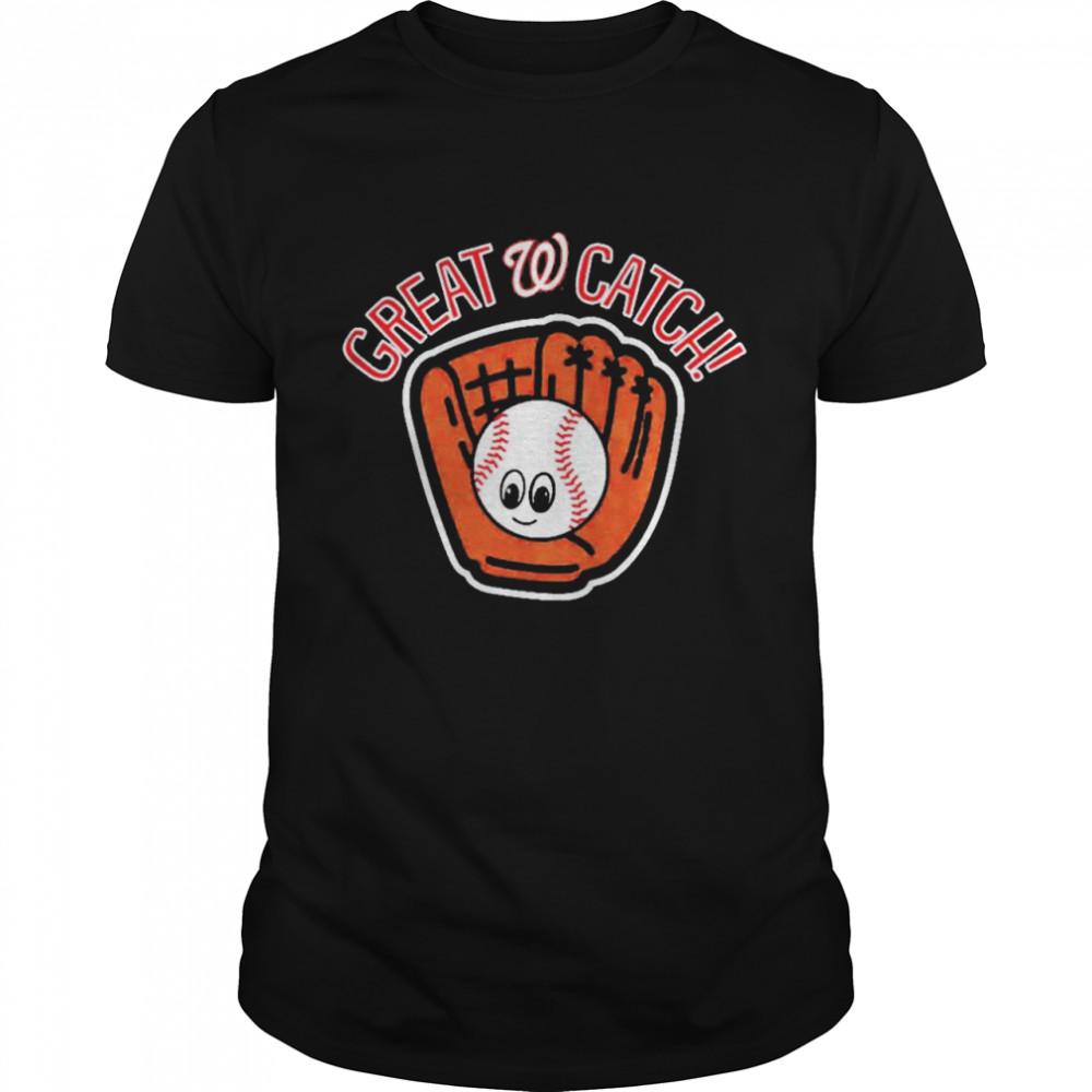 Washington Nationals Toddler Great Catch shirt