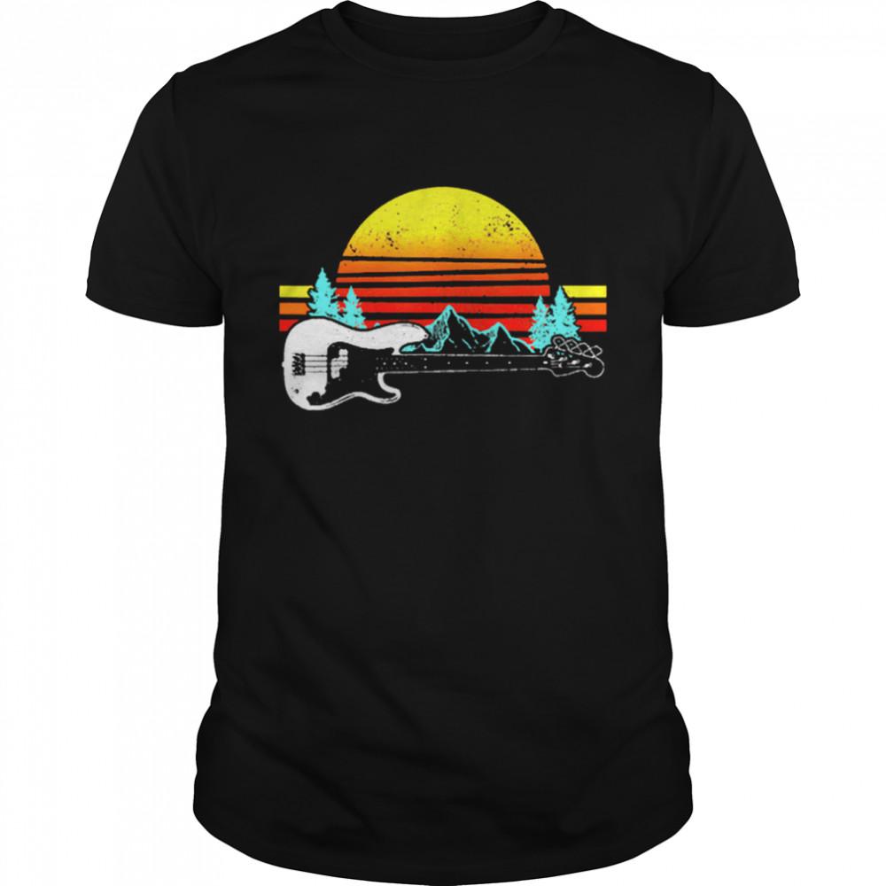 Vintage Retro Sunshine Bass Guitar shirt