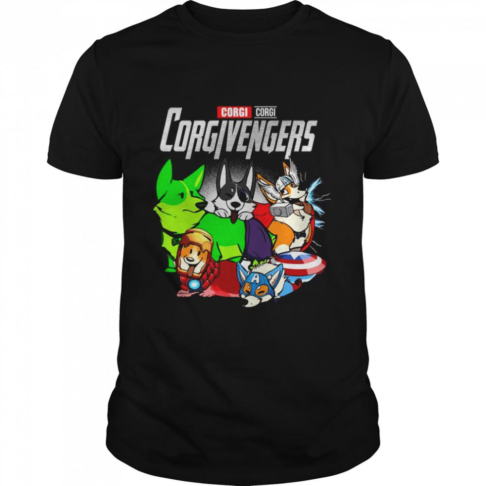 Good Marvel Avenger Corgi Corgi Corgivengers T-shirt