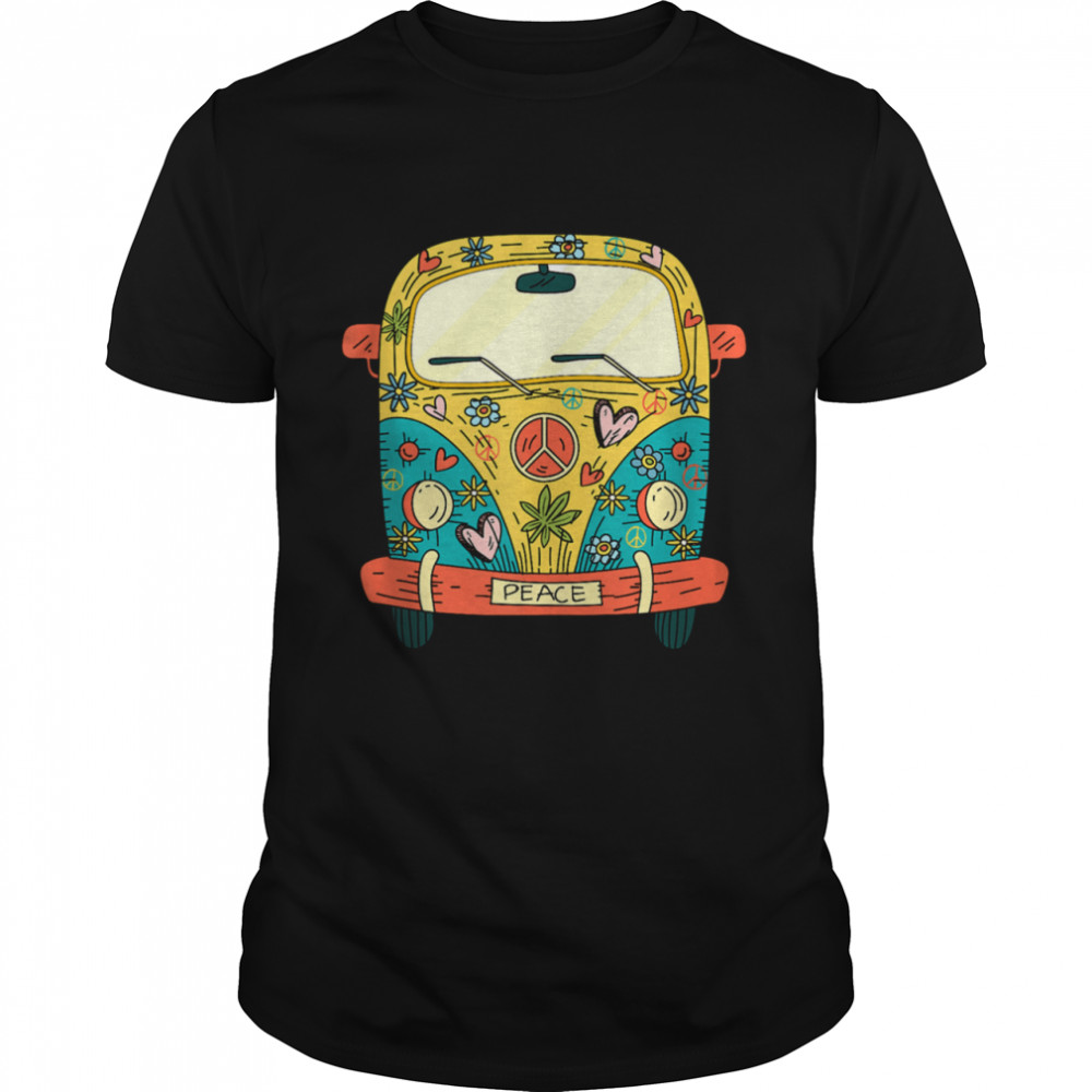 Hippie van Colorful Peace Outdoor Camping Shirt