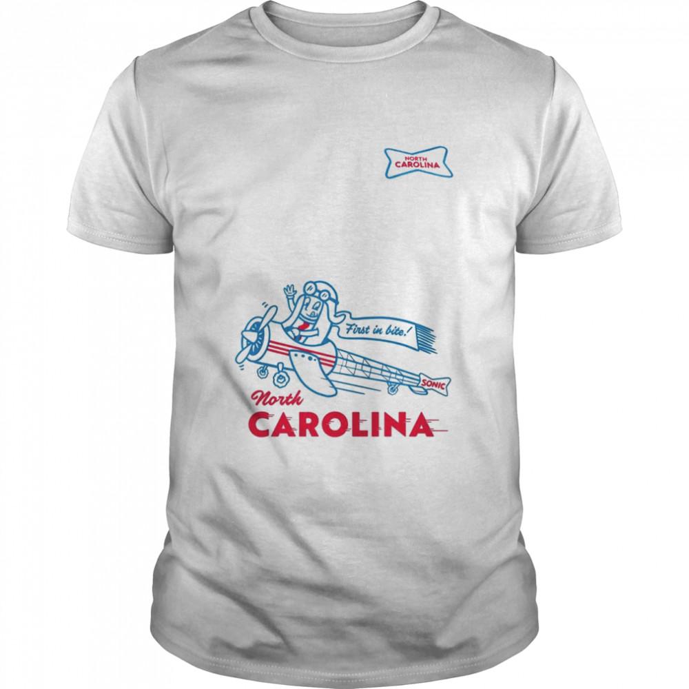 Sonic first in bite North Carolina shirt