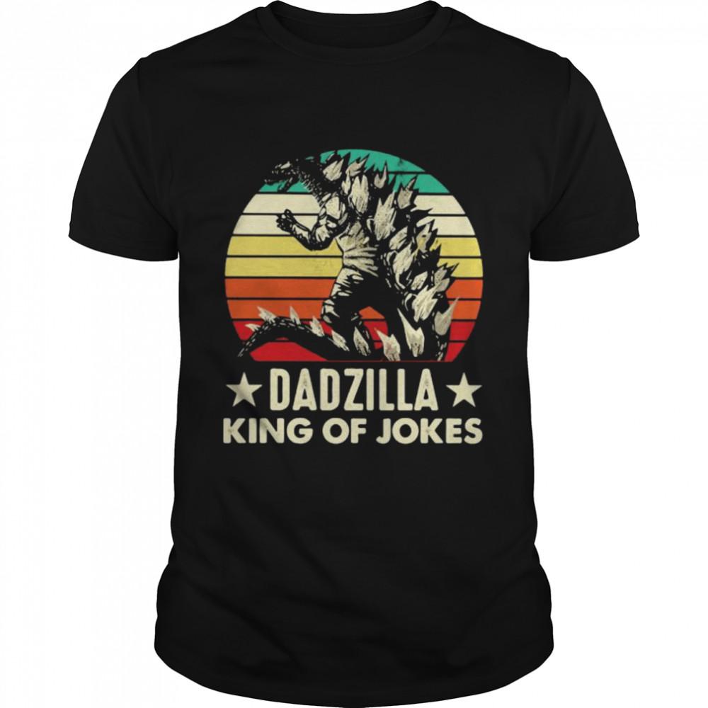 Family Dadzilla King Of Jokes Vintage Shirt