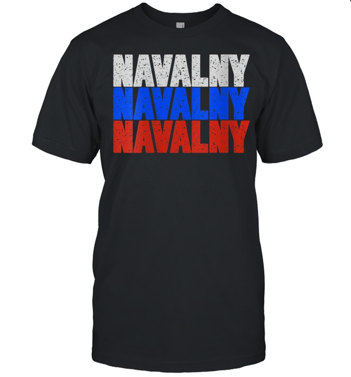 Free Navalny Supporter Russian Flag Peace for Russia 2021 Shirt
