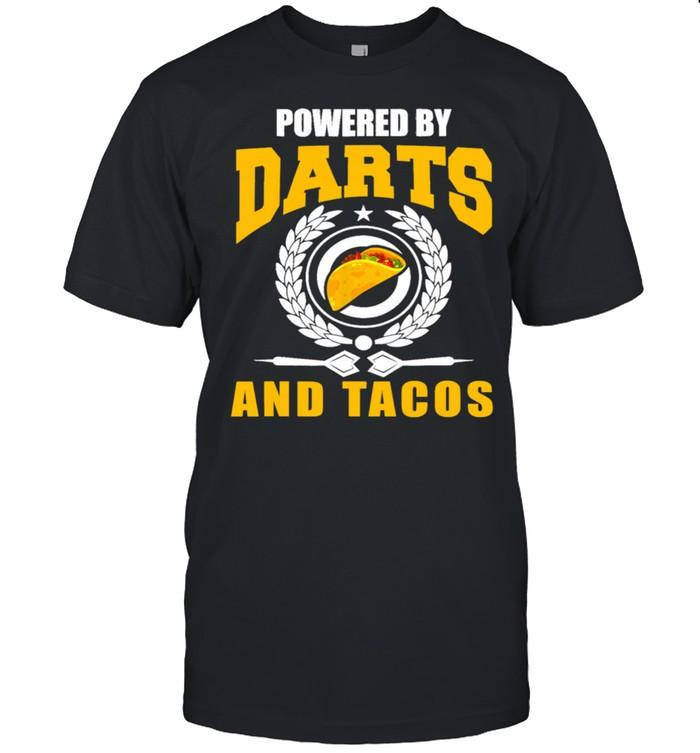 Powered Darts And Tacos Joke Darts Player Shirt