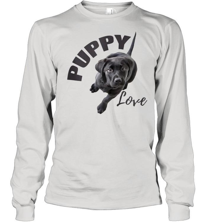 Black Lab Puppy Love  Long Sleeved T-shirt