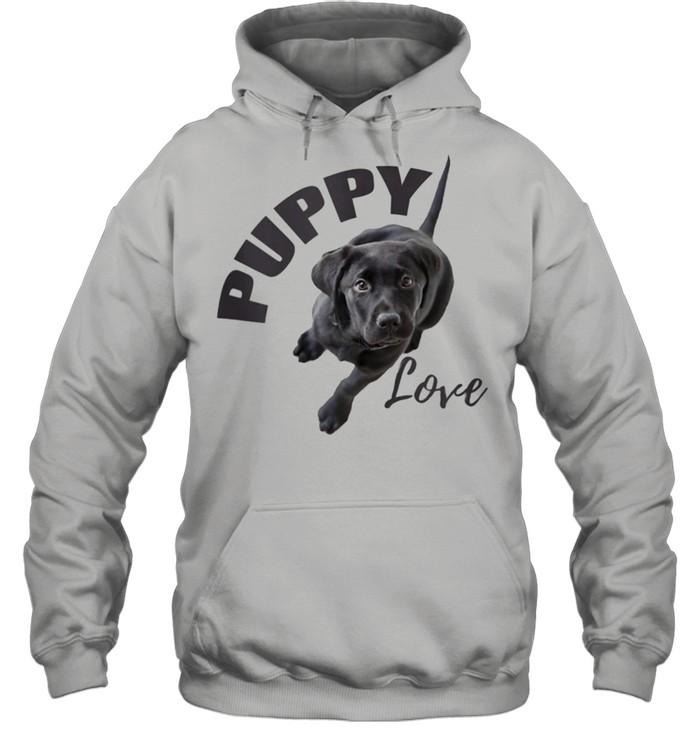 Black Lab Puppy Love  Unisex Hoodie