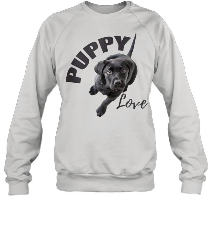 Black Lab Puppy Love  Unisex Sweatshirt