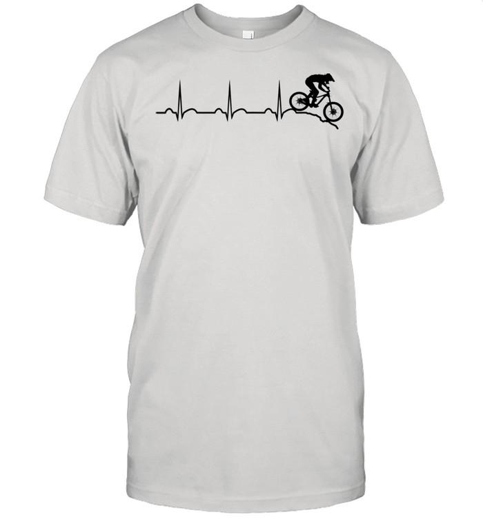 Mountain bike heartbeat downhill heartbeat mtb bike park shirt