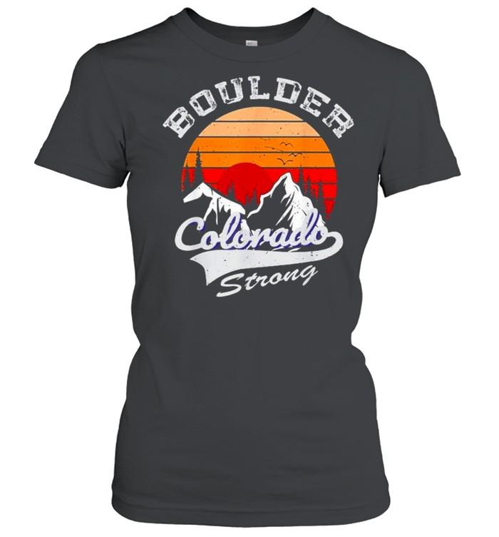 Boulder Colorado Strong 2021 vintage retro shirt Classic Women's T-shirt