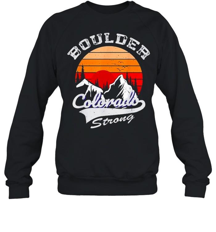 Boulder Colorado Strong 2021 vintage retro shirt Unisex Sweatshirt