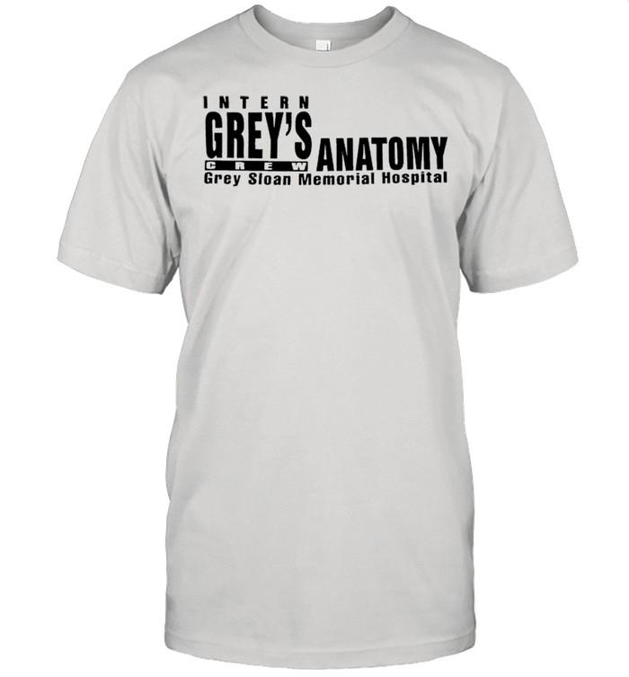 Intern Grey's Anatomy crew grey sloan memorial hospital shirt