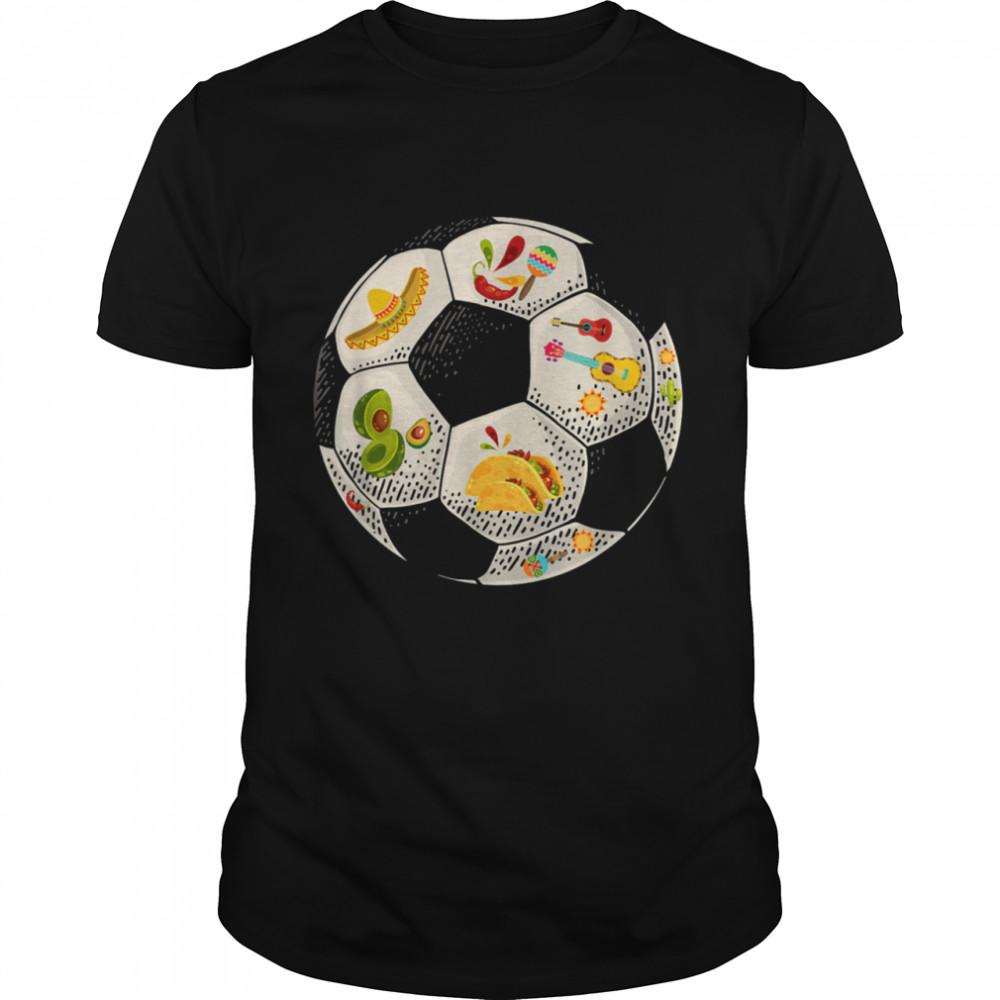 Soccer Ball Cinco De Mayo Boys Mexican Player Costume Shirt