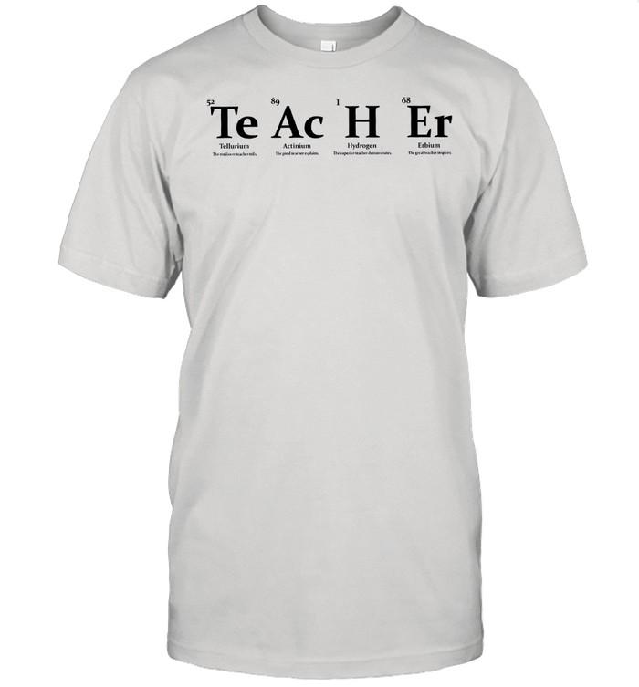 Teacher Tellurium Actinium Hydrogen Erbium shirt