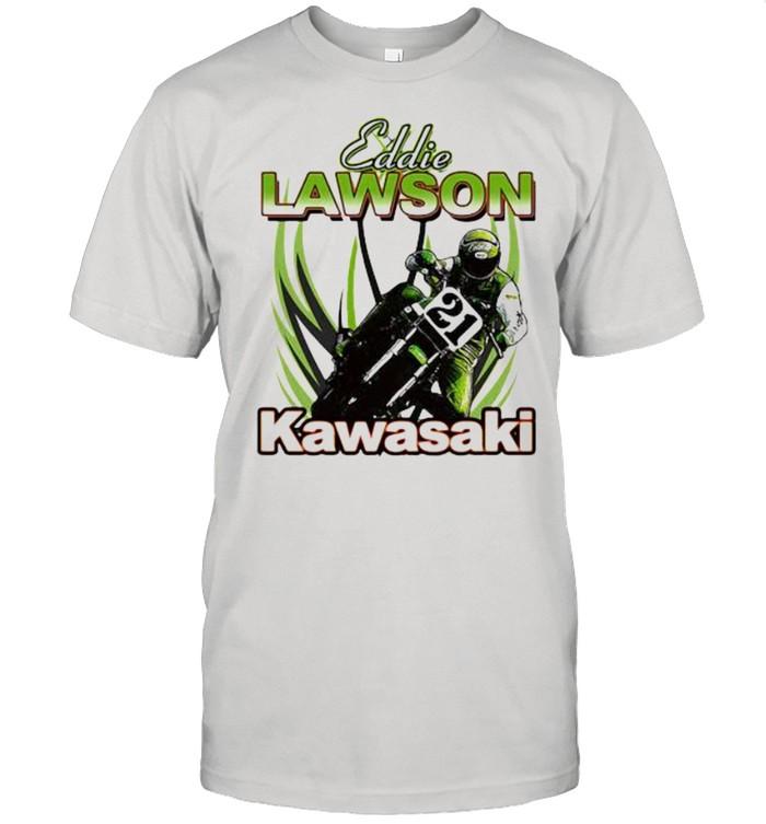 Eddie Lawson Kawasaki King Of The Mountain World Champion Motorcycle Shirt