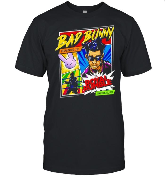 Bad Bunny x Royal Rumble 2021 shirt