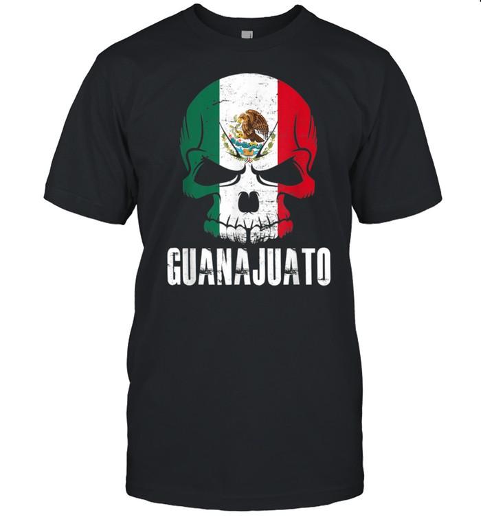 Guanajuato Mexico Mexican Skull Flag shirt