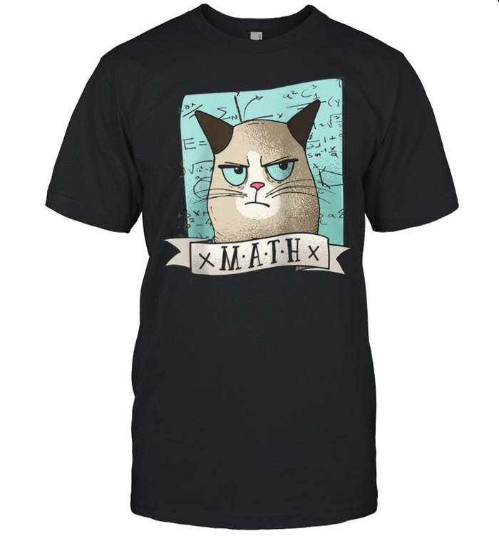 I Love My Grumpy Cat And Math shirt