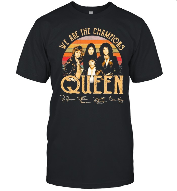 We Are Champions Queen Signatures Vintage shirt