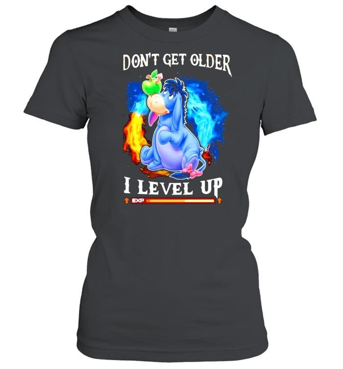 I Don't Get Older I Level Up Donkey  Classic Women's T-shirt