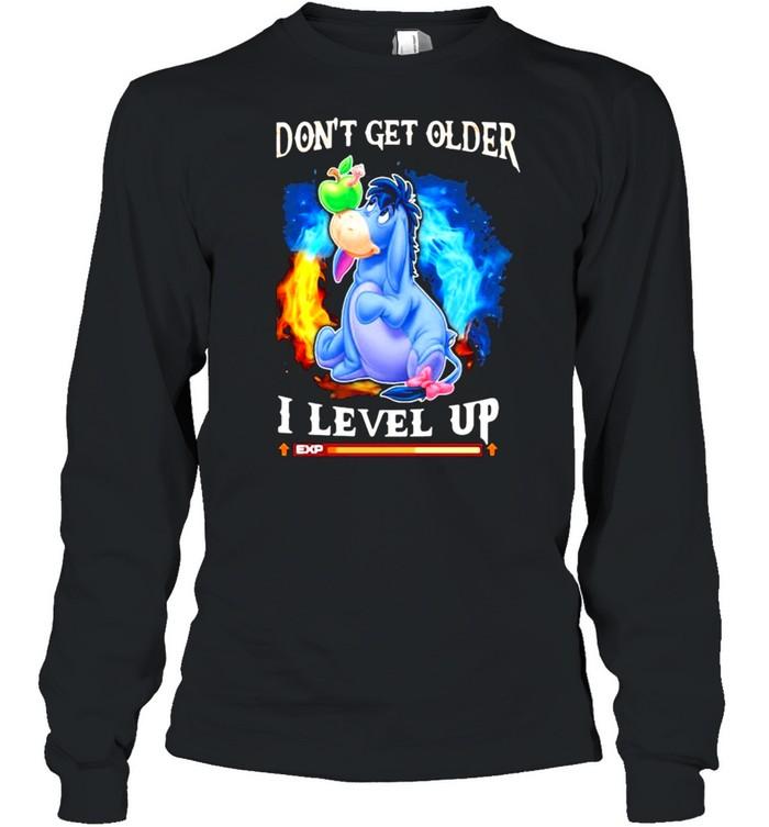 I Don't Get Older I Level Up Donkey  Long Sleeved T-shirt
