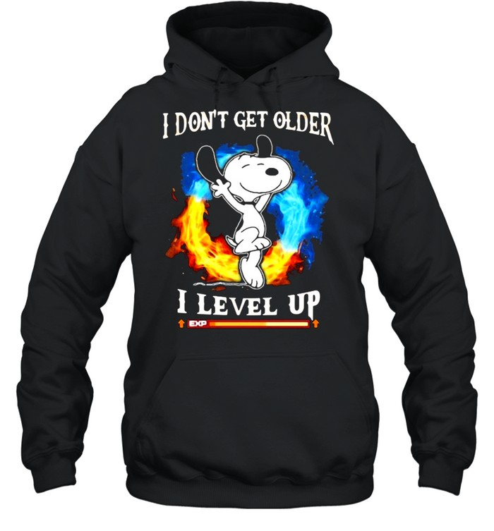 I Don't Get Older I Level Up Snoopy  Unisex Hoodie