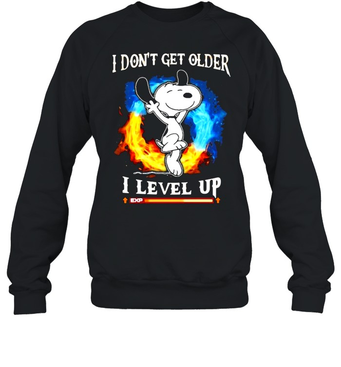I Don't Get Older I Level Up Snoopy  Unisex Sweatshirt