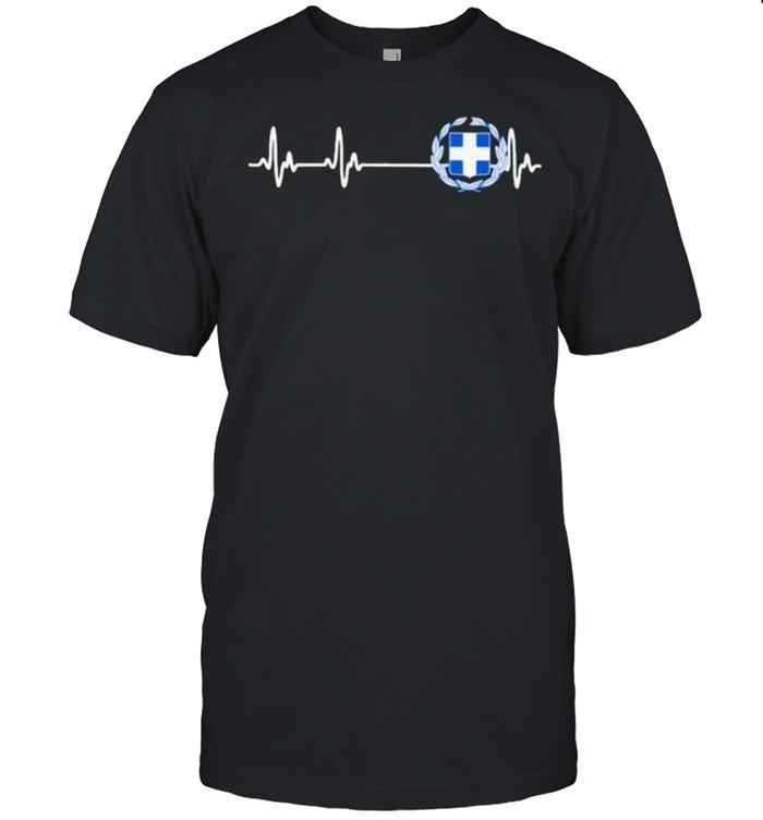 Greece Heart Beat  Classic Men's T-shirt