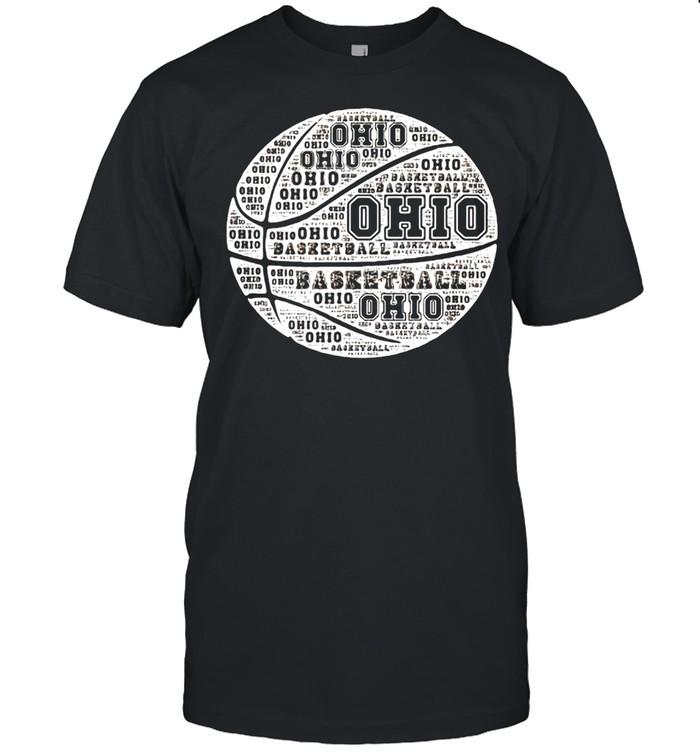 Basketball Design For State Of Ohio Buckeye T-shirt Classic Men's T-shirt