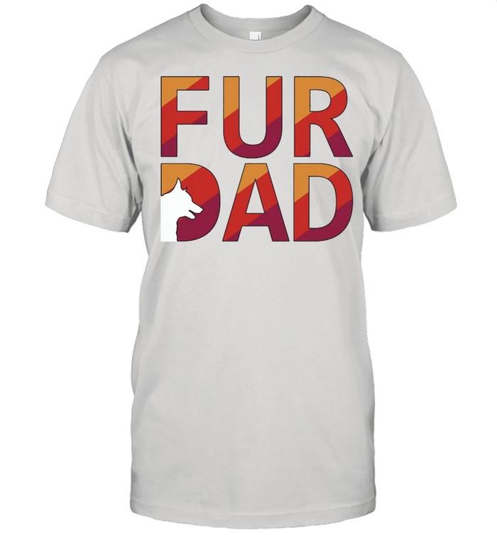 FUR DAD Dog Retro shirt Classic Men's T-shirt