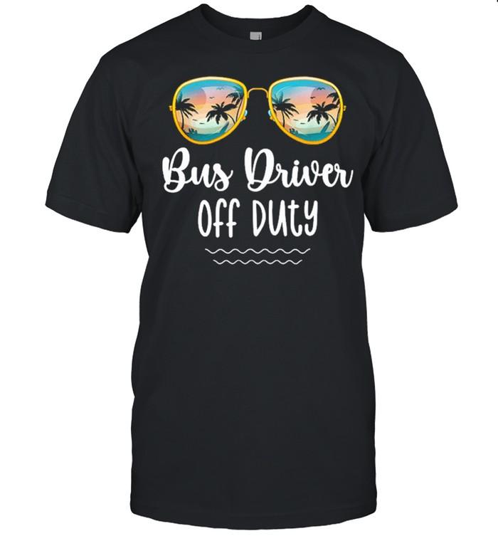 Off duty yellow school bus driver beach summer trip shirt Classic Men's T-shirt