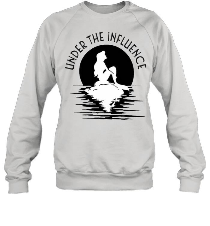 Under the influence mermaid moon shirt Unisex Sweatshirt