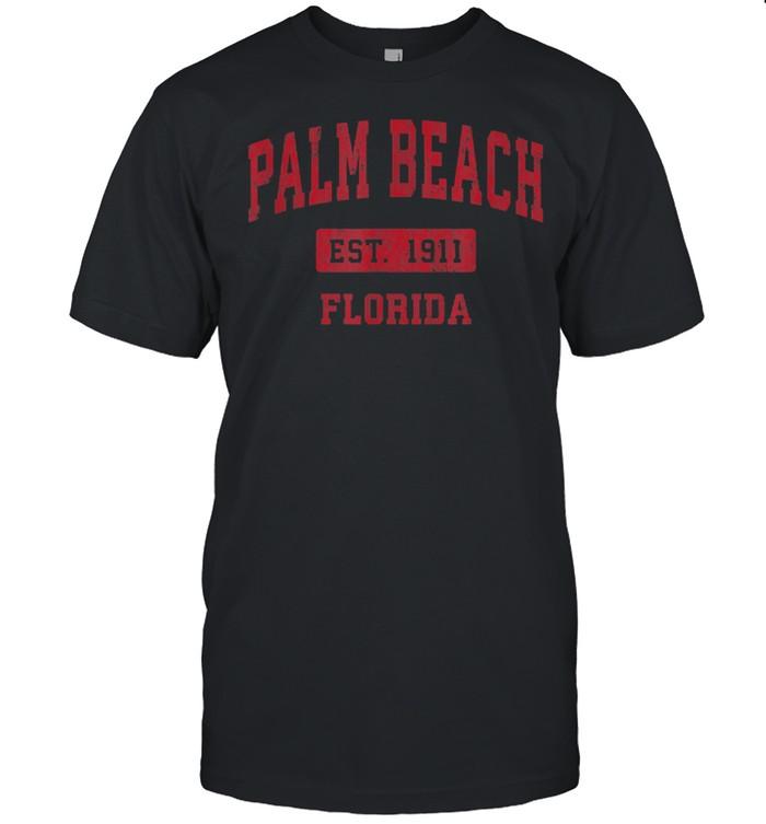 Palm Beach Florida FL Vintage Sports Design Red Design shirt Classic Men's T-shirt
