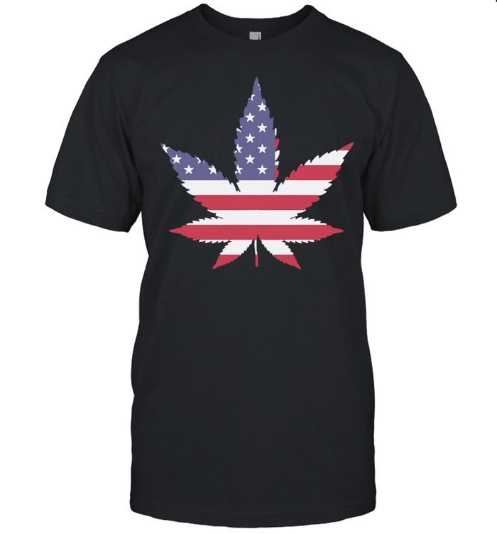 Weed American flag shirt Classic Men's T-shirt