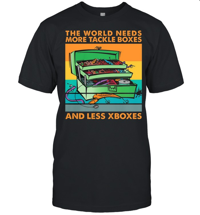 The World Needs More Tackle Box And Less Xboxes Vintage Retro shirt Classic Men's T-shirt