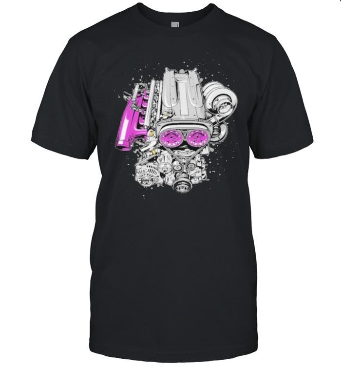 Rb26 single turbo engine shirt Classic Men's T-shirt