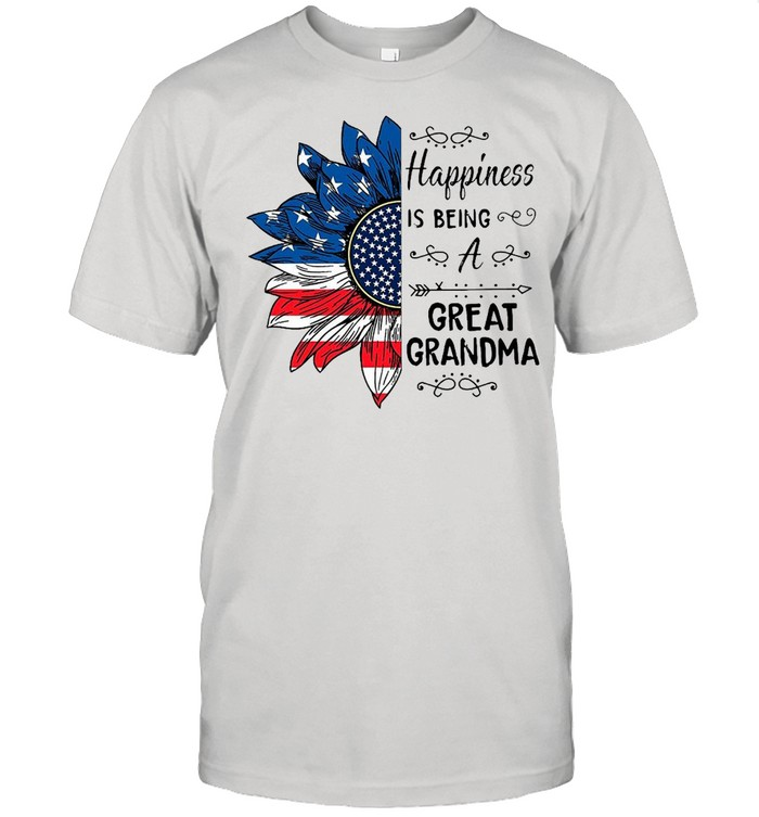 American Flag Sunflower Happiness Is Being A Great Grandma T-shirt Classic Men's T-shirt