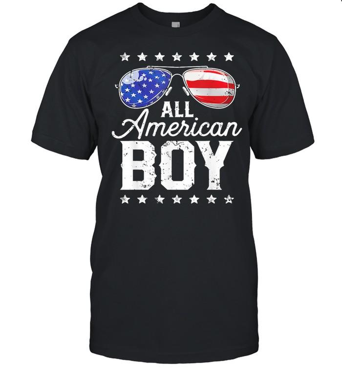 Glasses American Flag All American Boy shirt Classic Men's T-shirt