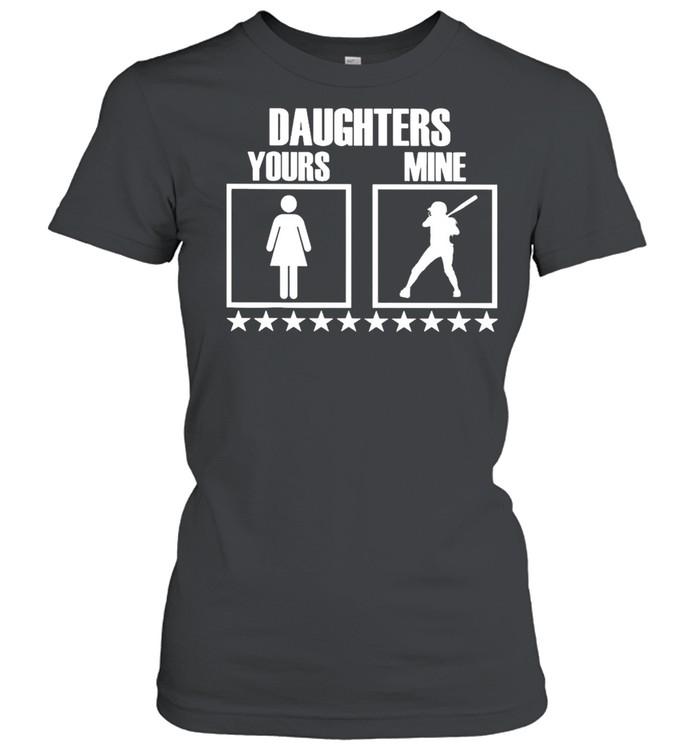 SOFTBALL Yours Daughters Mine shirt Classic Women's T-shirt