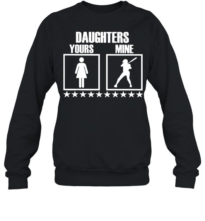 SOFTBALL Yours Daughters Mine shirt Unisex Sweatshirt
