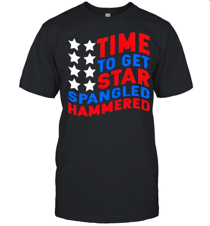 Time to get star spangled hammered shirt Classic Men's T-shirt
