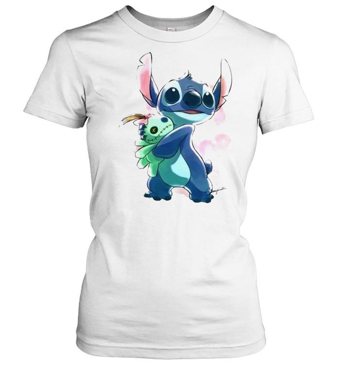 Love Stitch Watercolor  Classic Women's T-shirt