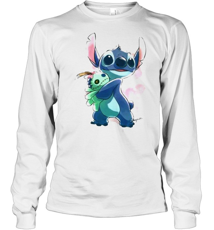 Love Stitch Watercolor  Long Sleeved T-shirt