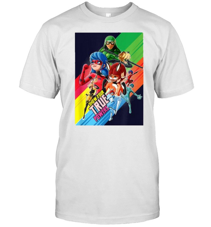 Show your true power Miraculous Collection Ladybug and All Heroez T- Classic Men's T-shirt