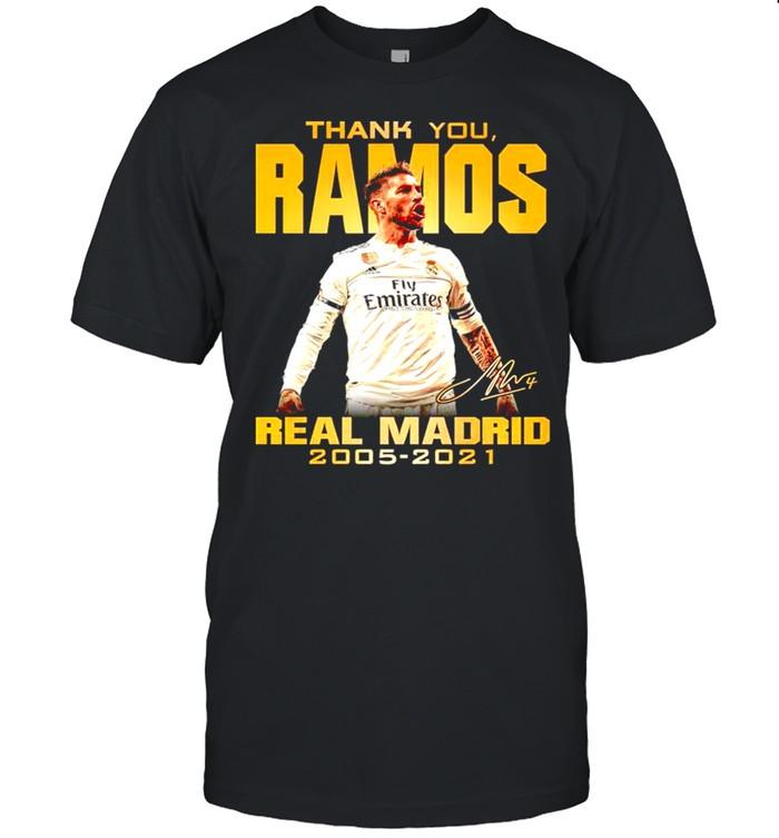 Thank you Ramos Real Madrid 2005 2021 signature shirt Classic Men's T-shirt