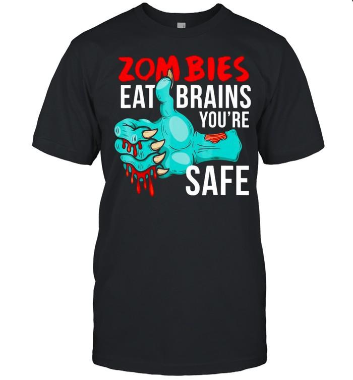 Undead Zombies Eat Brains So You're Safe T-shirt Classic Men's T-shirt