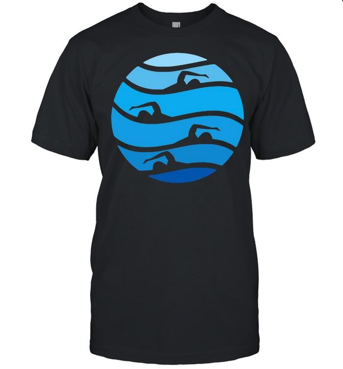 Womens Swimming Freestyle  Classic Men's T-shirt